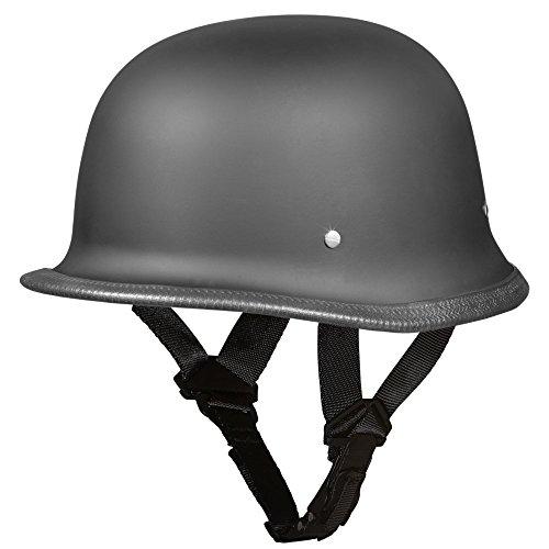 Daytona Helmets Motorcycle Half Helmet German- Dull Black 100 DOT Approved