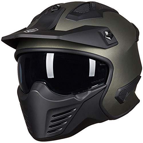 ILM Open Face Motorcycle 34 Half Helmet for Moped ATV Cruiser Scooter DOT Midnight Green L