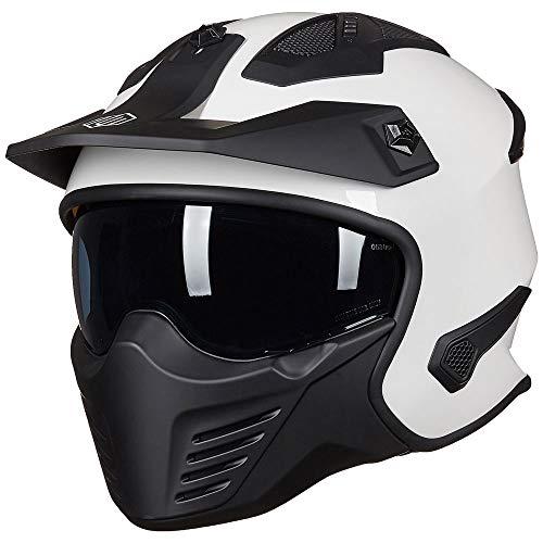 ILM Open Face Motorcycle 34 Half Helmet for Moped ATV Cruiser Scooter DOT White M
