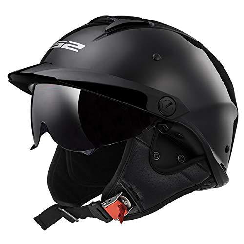 LS2 Helmets Rebellion Motorcycle Half Helmet Matte Black - Large