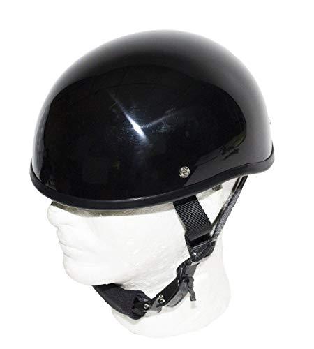 SOA Beanie Novelty Shiny Black Motorcycle Half Helmet Cruiser Biker SMLXLXXL 2XL BLACK