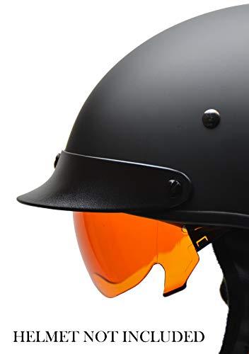 Vega Helmets unisex-adult Warrior Half Helmet Amber Replacement Drop-Down Shield 1 pack