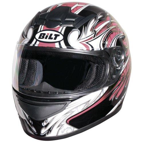 BILT Womens Racer Full-Face Motorcycle Helmet - MD BlackPink