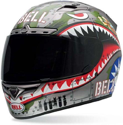 Bell Vortex Flying Tiger Full Face Motorcycle Helmet - Small