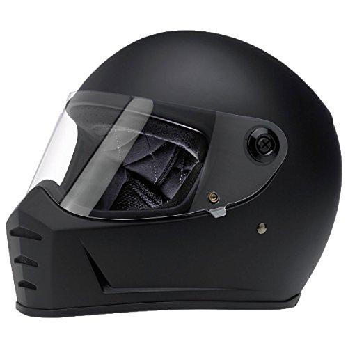 Biltwell Lane Splitter Solid Full-face Motorcycle Helmet - Flat Black  Large