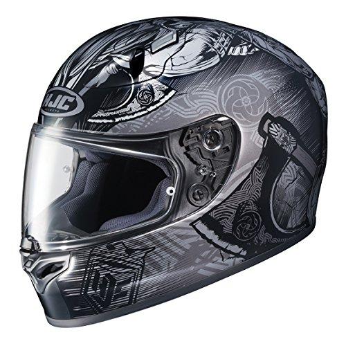 HJC FG-17 Valhalla Full-Face Motorcycle Helmet BlackSilver Medium