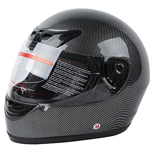 XFMT DOT Adult Carbon Fiber Flip Up Full Face Motorcycle Helmet XL