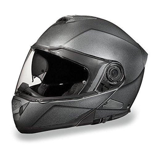 Gun Metal Gray Bluetooth Modular Motorcycle Helmet Size 4XL XX-Large