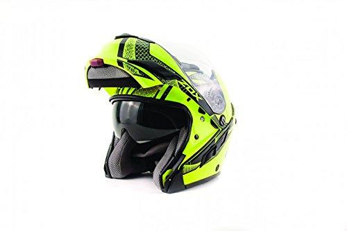 Zox Brigade SVS Skratch Modular Motorcycle Helmet White XL