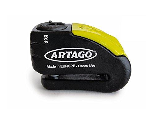 Artago 30X14 motorcycle  Bike Alarm Disc Lock 14 mm  120 dB Alarm  Water Resistant