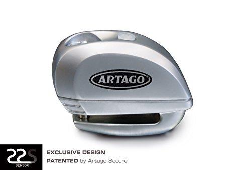 Artago Secure 22S6M Motorcycle  Scooters  Bike Alarm Disc Lock - Anti Thief alarm 120 dB