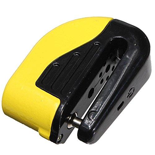 Motorcycle Disc Lock - TOOGOOR Anti theft Motorcycle Motorbike Bike Security Disc DISK Lock ALARM W 2 KEY -Yellow