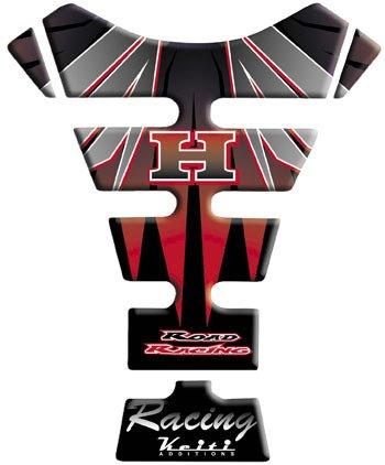 Keiti Tank Protector - Honda Wing BlackSilverRed