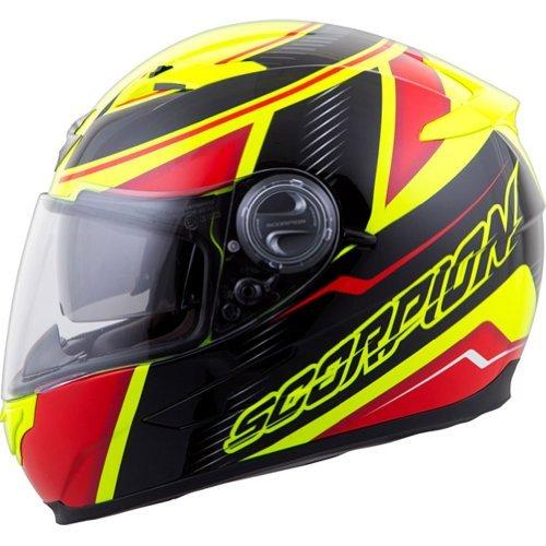 Scorpion EXO-500 Corsica RedNeon Yellow Full Face Helmet - Medium