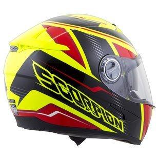Scorpion EXO-500 Corsica RedNeon Yellow Full Face Helmet - Small