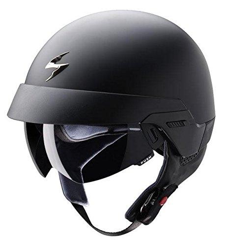 Scorpion Exo 100 DVS Open Face Bike Scooter Motorcycle Helmet Matt Black X-LARGE