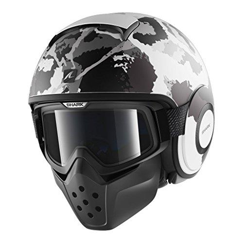 Shark Helmets DRAK Kurtz Matte - WHITE  SILVER  ANTHRACITE - XL