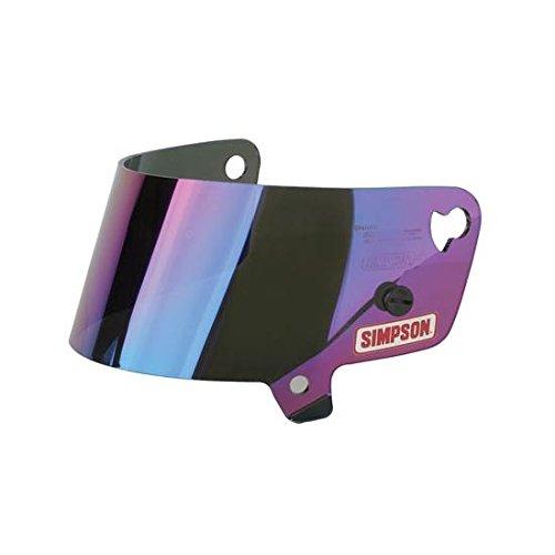Simpson Racing 88402 Shield-IridiumMetalized VudoSide WinderShark Helmet