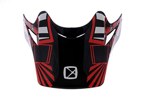 CKX 183919 Peak for TX-218 Pursuit Adult Full Moto Helmet RedBlack