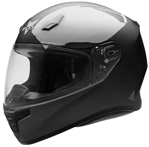 Vega Helmets XXXXXL AT2B Street Motorcycle Helmet for Men Women – DOT Certified Full Face Motorbike Helmet for Cruisers Sports Street Bike Scooter Touring Moped Moto Gloss Black 5XL
