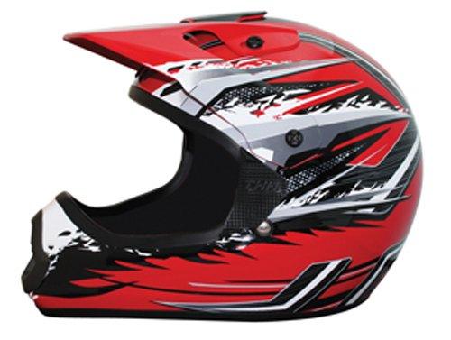 THH Helmet TX-10 Youth Helmet RedGray Large