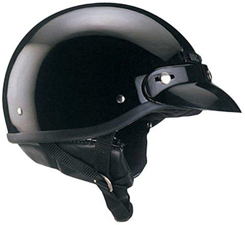 THH T-5 Half Helmet Solid Black Medium