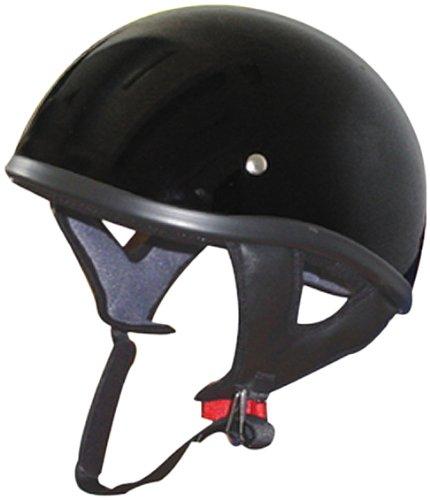 THH T-68 Half Helmet Flat Black Medium