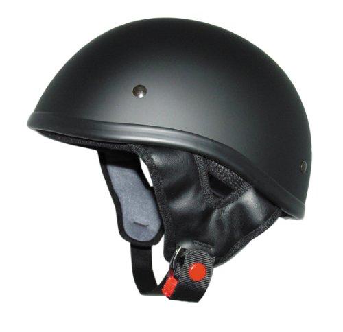 THH T-68 Half Shell Cruiser Street Bike Motorcycle Helmet Flat Black Large