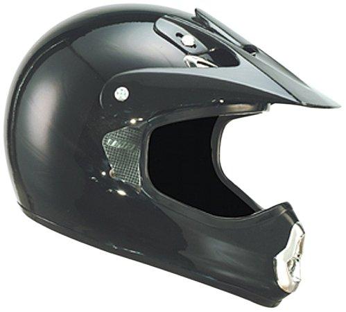 THH TX-10 Youth Off-Road Helmet Solid Black Medium