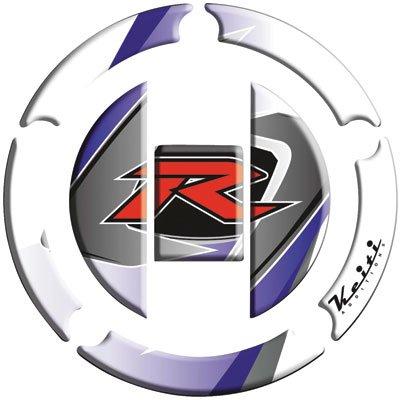 Keiti Gas Cap Protector R White for Suzuki GSXR750 FI 2003-2009