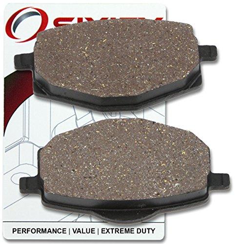 Sixity Front Organic Brake Pads 2007-2009 Yamaha YBR 125 ESD Set Full Kit 4P26 Cast Wheel Complete
