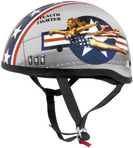 Skid Lid Helmets Original Pin Up Helmet  Size 2XL Distinct Name Bomber Pin Up Helmet Category Street Primary Color Red Helmet Type Half Helmets Gender MensUnisex 646955