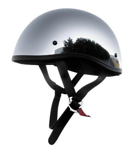 Skid Lid Helmets Original Solid Helmet  Size Lg Primary Color Silver Distinct Name Chrome Helmet Category Street Helmet Type Half Helmets Gender MensUnisex XF64-6623