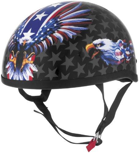 Skid Lid Helmets Original USA Flame Eagle Helmet  Distinct Name USA Flame Eagle Gender MensUnisex Helmet Category Street Helmet Type Half Helmets Primary Color Red Size Sm 646987