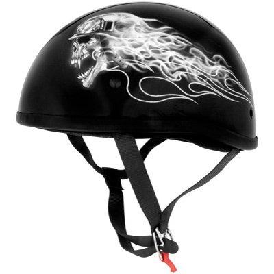Skid Lid Original Biker Skull Half Helmet Llarge