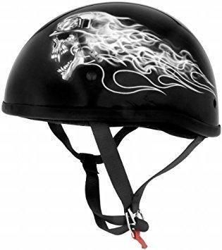 Skid Lid Original Biker Skull Half Helmet Mmedium