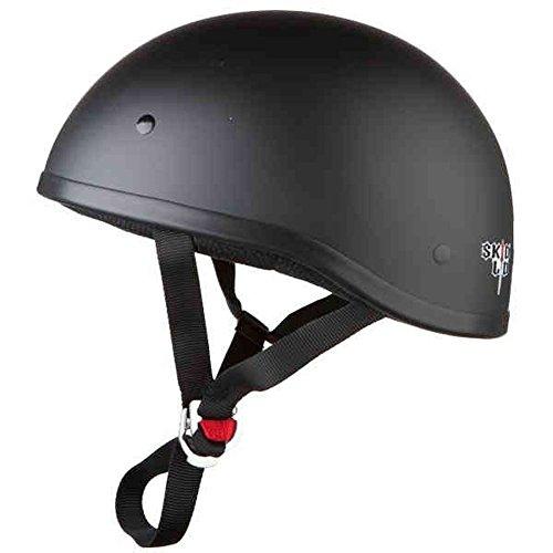 Skid Lid Original Solid Motorcycle Helmets - Matte Black - X-Large