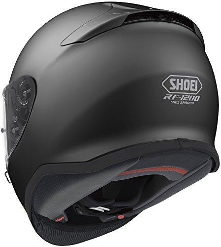 Shoei Solid RF-1200 Sports Bike Racing Motorcycle Helmet - Matte Black  Large