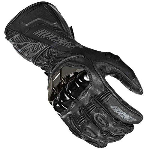 Joe Rocket Flexium TX Mens Leather Street Bike Racing Motorcycle Gloves - BlackBlack  X-Large