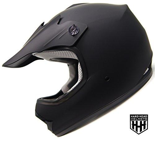 SmartDealsNow - HHH DOT Youth Kids Helmet for Dirtbike ATV Motocross MX Offroad Motorcyle Street bike MATTE BLACK Large