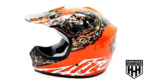 SmartDealsNow - HHH DOT Youth Kids Helmet for Dirtbike ATV Motocross MX Offroad Motorcyle Street bike ORANGE CAMO Medium