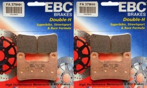 EBC Sintered Double H Front Brake Pads 2 Sets 2012 2013 Kawasaki ZX1000 Ninja 1000 ABS  FA379HH
