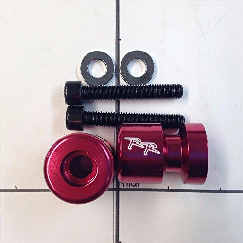 XKMT GROUP Swingarm Spools Sliders Red RR Engraved Logo Honda CBR 1000RR600RR Suzuki GSX 1300RGSX-R 1000GSX-R 1100GSX-R 600GSX-R 750DucatiKAWASAKI ZX1000 NINJA ZX-10R
