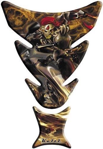 Keiti Tank Protector - Flames - Skeleton Biker KT7100