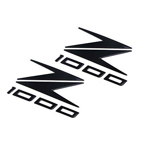PRO-KODASKIN Motorcycle 3D Raise Emblem Sticker Decal for Kawasaki Z1000 Black
