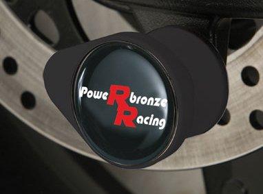 Powerbronze 518-K104-003 fork protectors to fit Kawasaki Z1000 Black High Impact Plastic