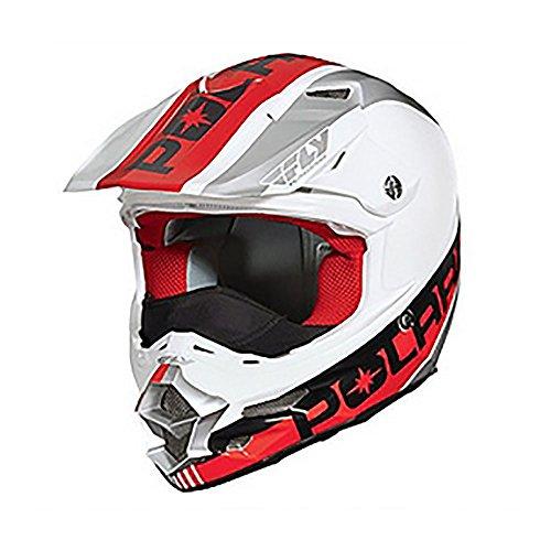 Polaris Fly F2 Carbon Fiber Helmet - Red  White  XX-Large