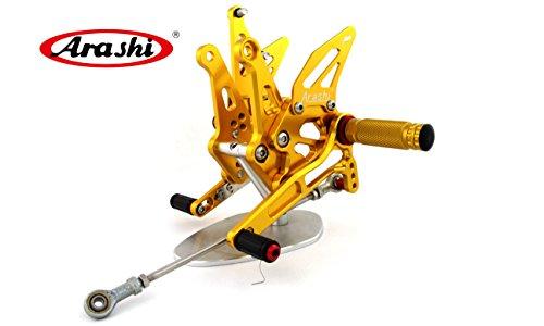 Arashi Adjustable Rearsets Footrest Rear Sets Foot Pegs Shift Gear For Kawasaki Z1000 2014 2015 2016 Ninja Z1000 ABS Gold