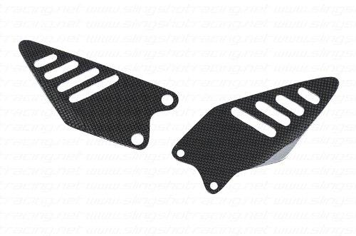 2009-2017 Kawasaki Ninja ZX6R ZX6 R Carbon Fiber Fibre Heel Foot Guard Plate Sheild