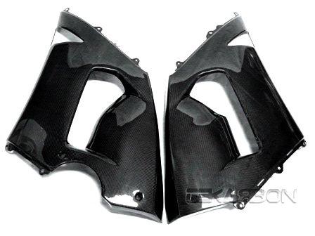 2005 - 2006 Kawasaki ZX6R Carbon Fiber Large Side Fairings